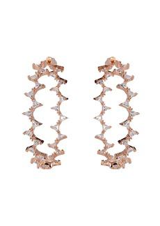 Nickho Rey Rachel Crystal Hoop Earrings