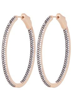 Nickho Rey Slim Tire Crystal Hoop Earrings