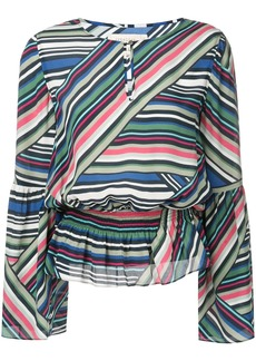 Nicole Miller abstract stripe blouse