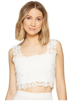 Nicole Miller Alexa Crochet Lace Crop Top