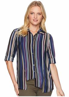 Nicole Miller Asymmetrical Boyfriend Shirt