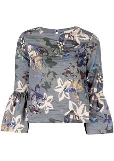 Nicole Miller autumn dream print blouse