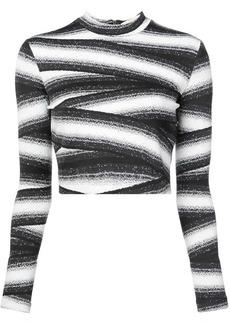 Nicole Miller bandage stripe top
