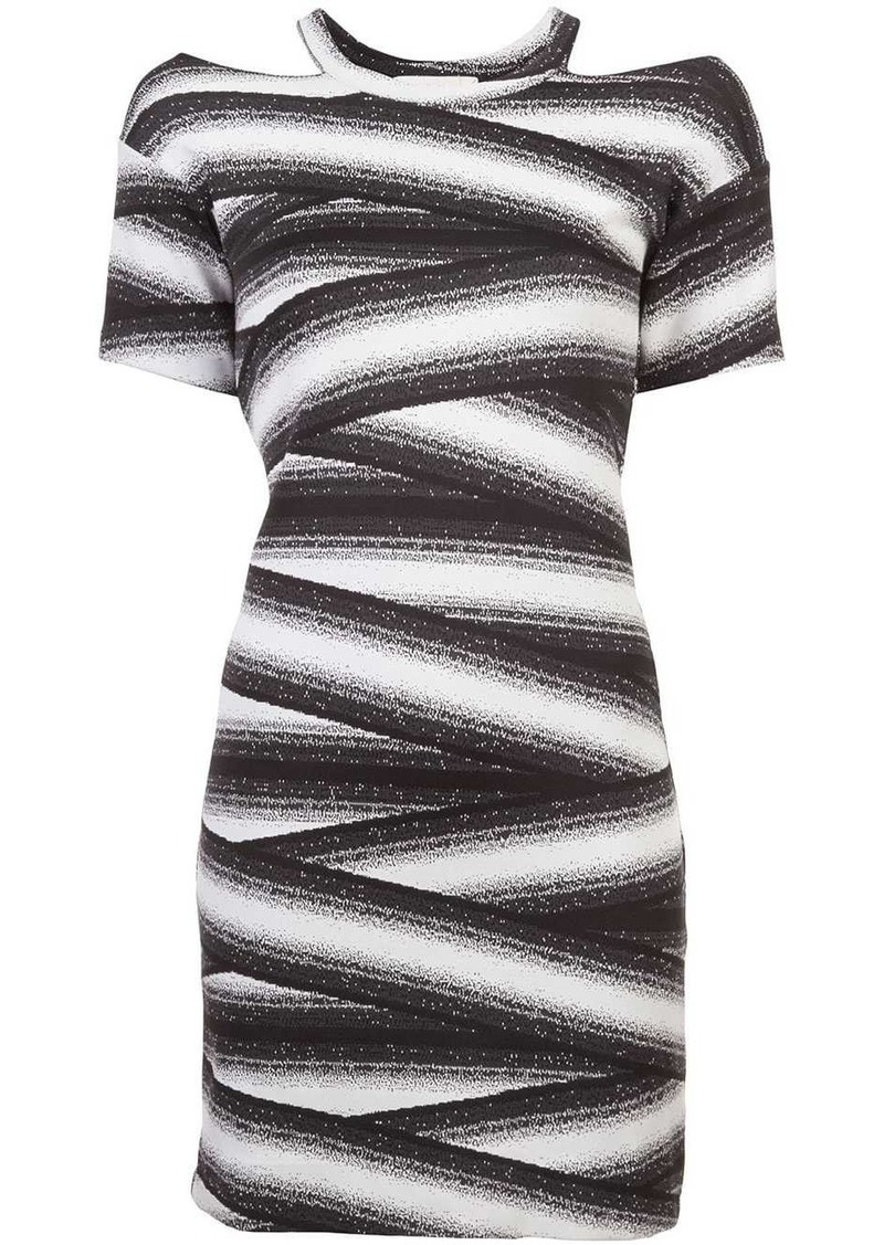 Nicole Miller bandage stripe dress
