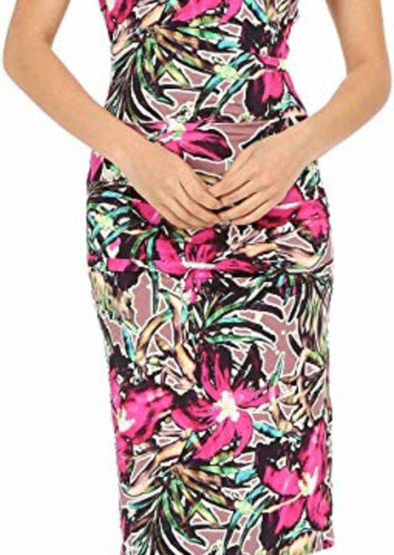 Nicole Miller Batiki Printed Hip Tuck Dress