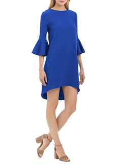 Nicole Miller Bell-Sleeve Hi-Lo Dress