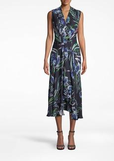 Nicole Miller Blue Mirage High Low Dress