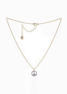 Nicole Miller Blue Stone Peace Sign Necklace