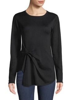 Nicole Miller Boat-Neck Side-Knot Sweater