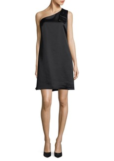 Nicole Miller Bow-Accented One-Shoulder Dress