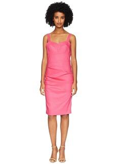 Nicole Miller Bra Top Tuck Dress