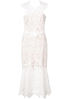 Nicole Miller broderie anglaise flared dress