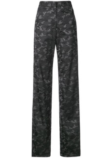 Nicole Miller camouflage print trousers