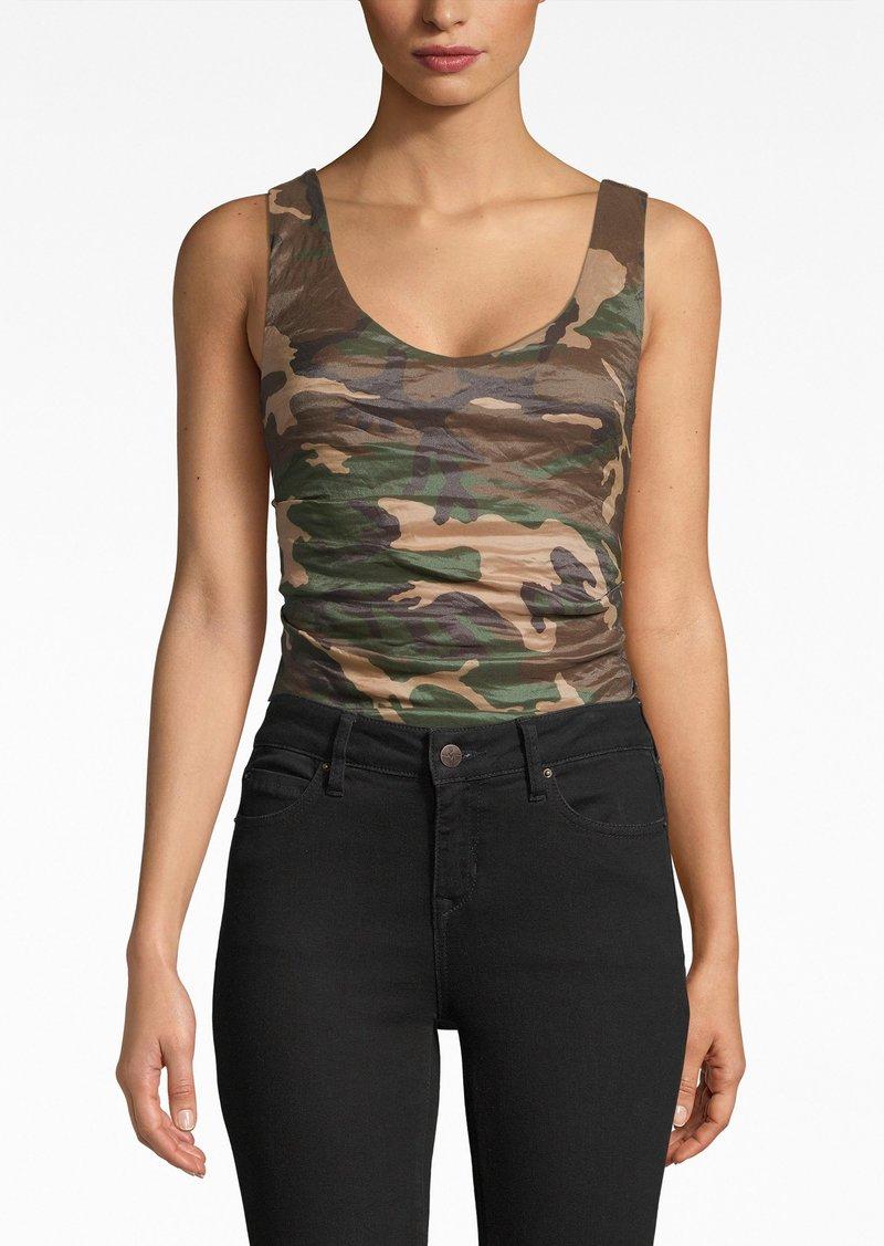 Nicole Miller Camouflage Techno Metal Bodysuit
