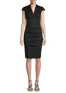 Nicole Miller Cap-Sleeve Sheath Dress