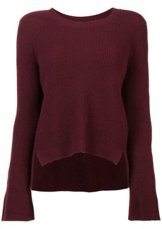 Nicole Miller cashmere bell sleeved sweater