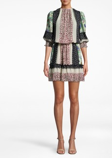 Nicole Miller Chabana Scarf Smocked Dress