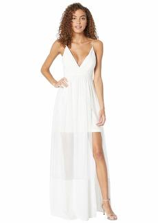 Nicole Miller Chiffon Maxi Dress