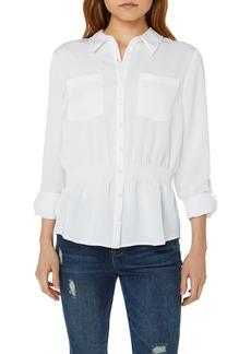 Nicole Miller Cinched Waist Shirt