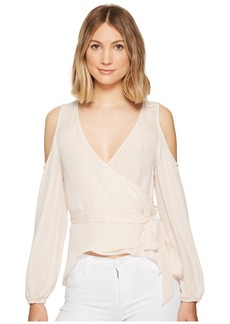 Nicole Miller Coco Silk Wrap Blouse