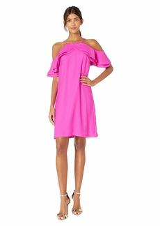Nicole Miller Cold Shoulder Dress