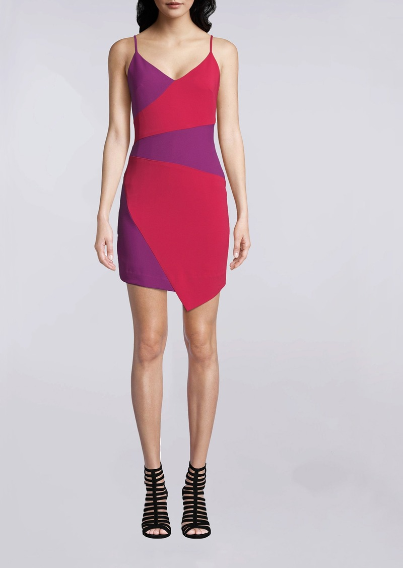 Nicole Miller Color Block Asymmetrical Dress