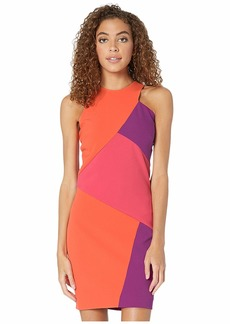 Nicole Miller Color Block Sleeveless Mini Dress