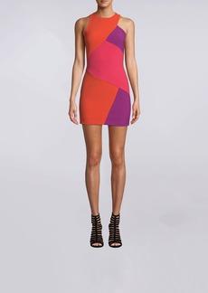 Nicole Miller Color Block Sleeveless Mini Dress