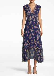 Nicole Miller Cosmo Flora Midi Dress