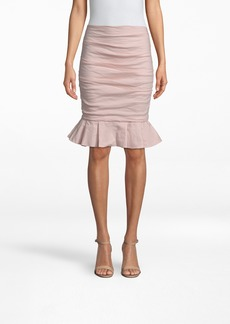 Nicole Miller Cotton Metal Ruffle Skirt