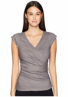 Nicole Miller Cotton Metal V-Neck Top