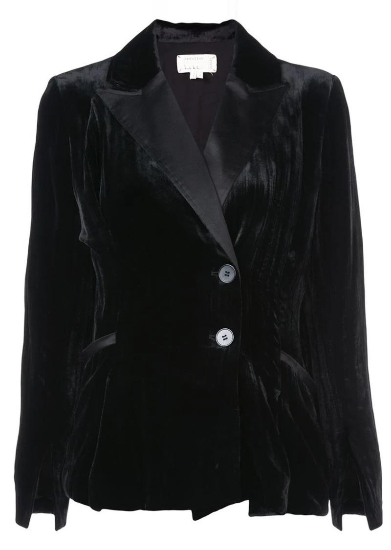 Nicole Miller crinkled velvet blazer