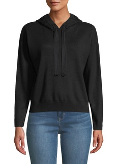 Nicole Miller Cropped Hooded Sweater