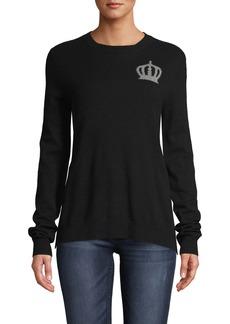Nicole Miller Crown Crew Neck Cashmere Sweater