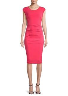 Nicole Miller Cut-Out Cap-Sleeve Midi Dress