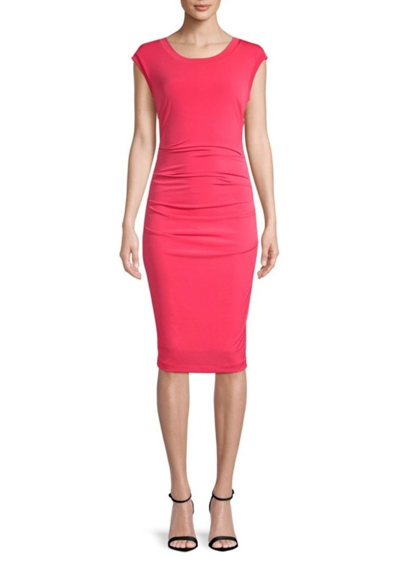 Nicole Miller Cut-Out Cap-Sleeve Midi Dress