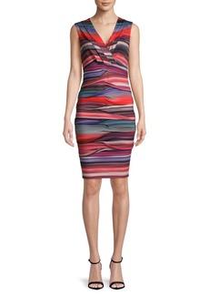 Nicole Miller Dakota V-Neck Knee-Length Dress