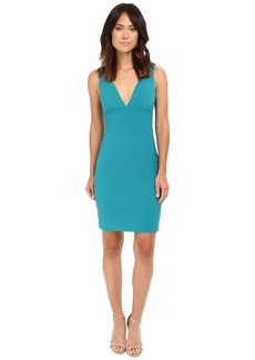 Nicole Miller Deep V Seamed Dress