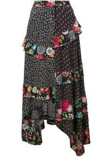 Nicole Miller ditzy dandelion maxi skirt