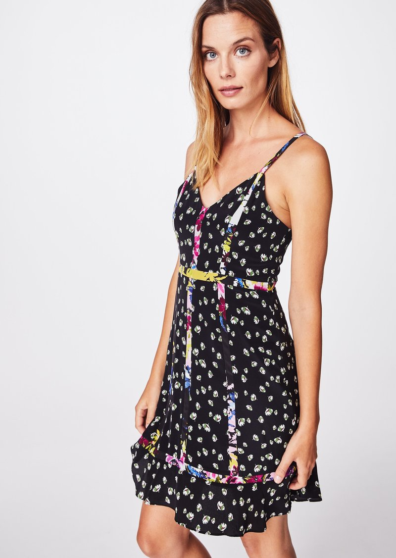 Nicole Miller Ditzy Stems Cami Dress