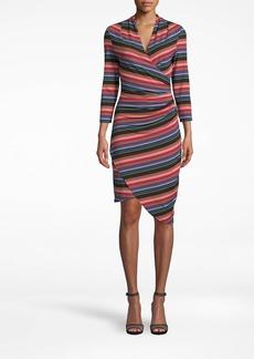 Nicole Miller Downtown Stripe 3/4 Sleeve Stefanie Dress