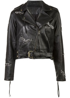 Nicole Miller eagle motorcycle jacket