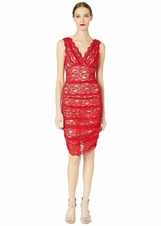 Nicole Miller Evelin Stretch Lace Ruched Dress