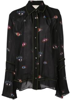 Nicole Miller Evil Eye Candy shirt