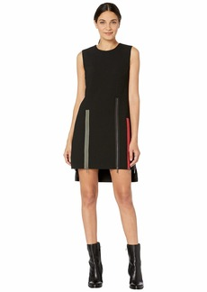 Nicole Miller Exposed Zippers Shift Dress