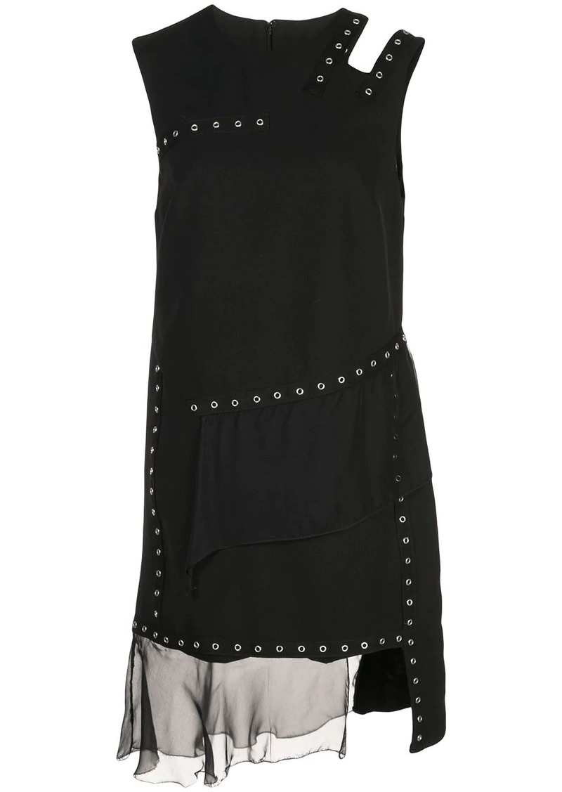 Nicole Miller eyelet embellished dress