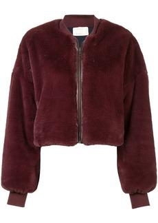 Nicole Miller faux fur bomber jacket