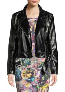 Nicole Miller Faux-Leather Moto Jacket