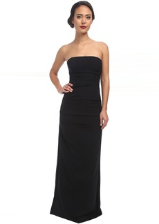 Felix Techy Crepe Strapless Gown