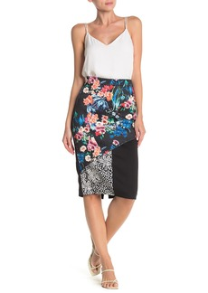 Nicole Miller Fitted Print Skirt